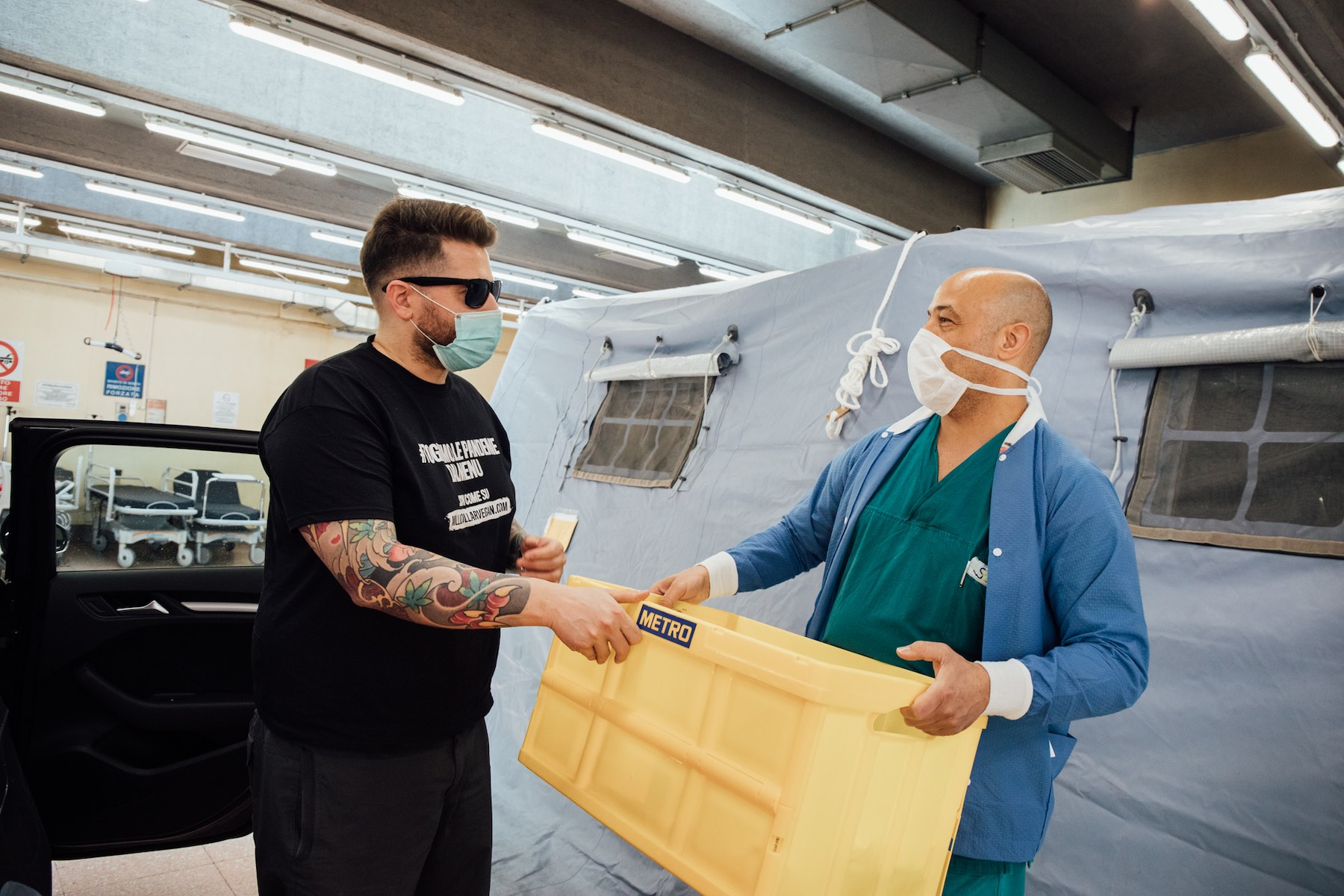Delivering vegan food to hospitals in Italy
