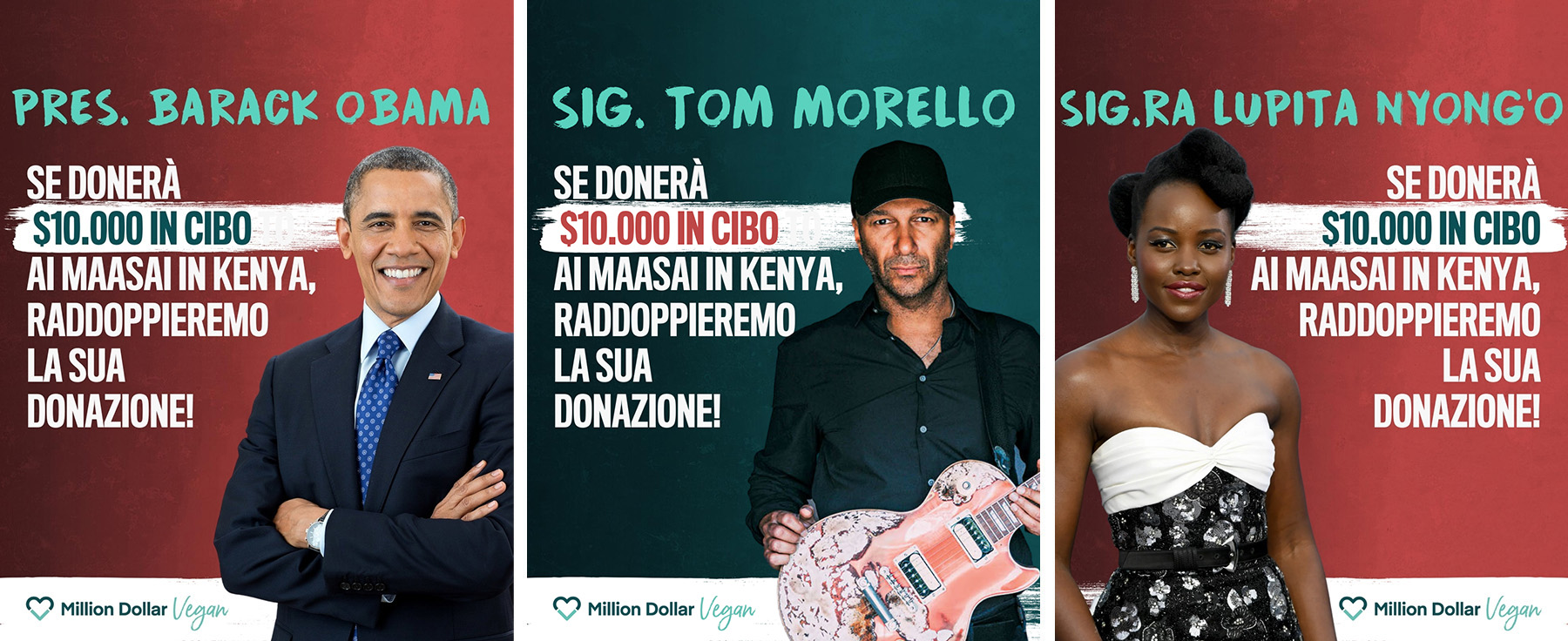 10.000 dollari la nostra sfida all'ex Presidente Obama, a Lupita Nyong'o e a Tom Morello
